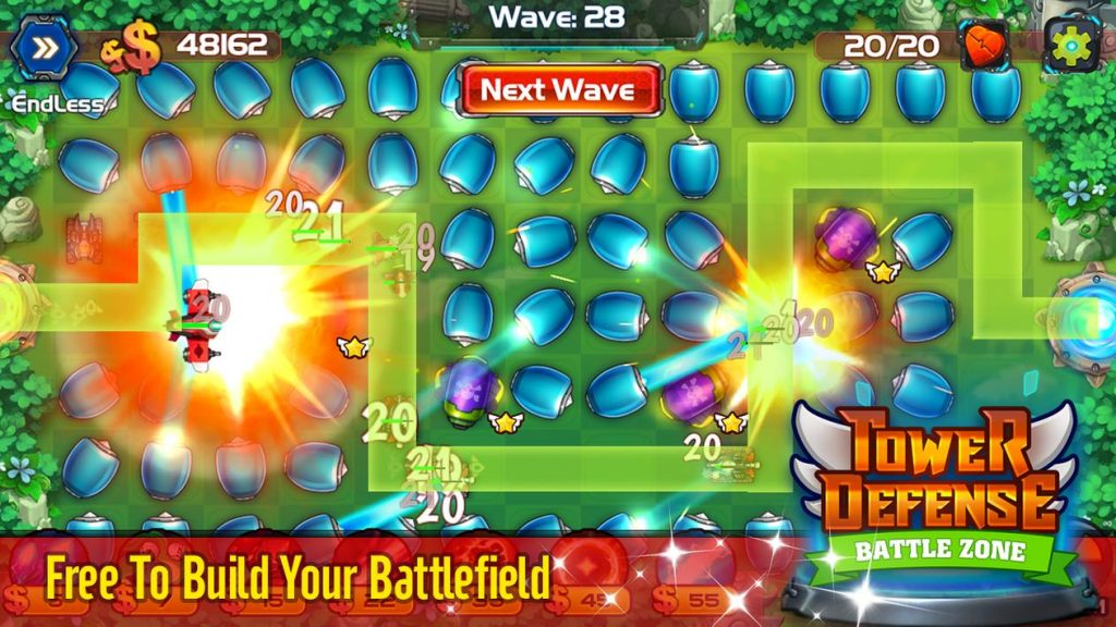 Tower Defense Battle Zone Apk Mod