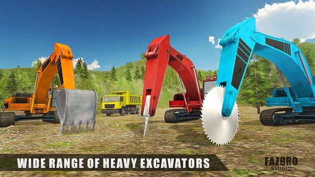 Heavy Excavator Rock Mining Apk Mod