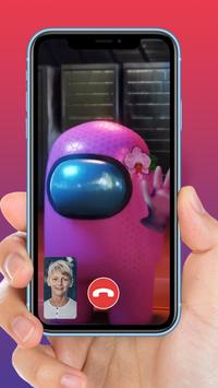 Video call from Among Us Impostors Apk Mod