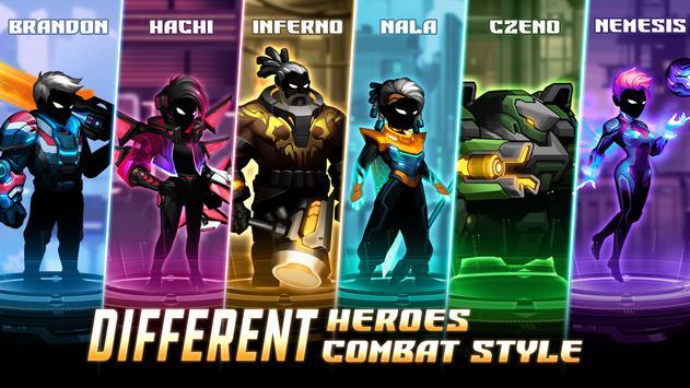Cyber Fighters League of Cyberpunk Stickman 2077 Apk Mod