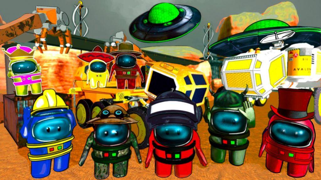 Mars Neighbor Escape. Among Red Planet Mod